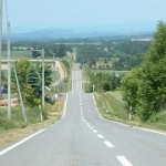 ジェットコースターの路からの眺望